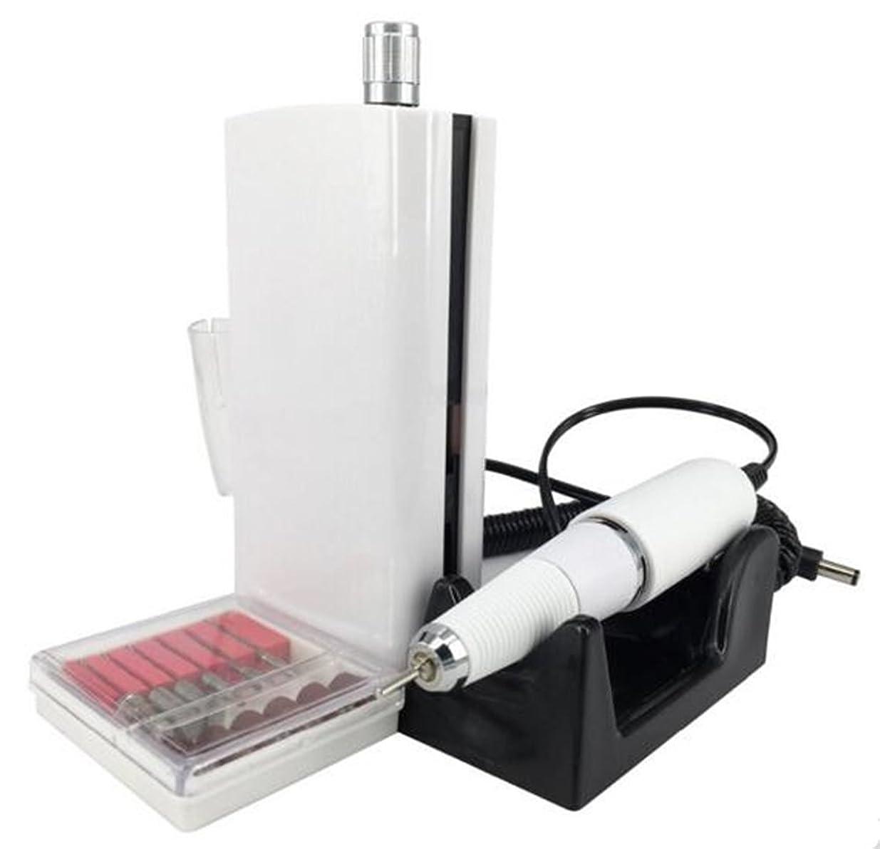 感謝祭司書大統領UZMEIマニキュアとペディキュア用具30000RPM 充電式電気ネイルドリルプロフェッショナルまたは家庭用の6pcドリルビット付き