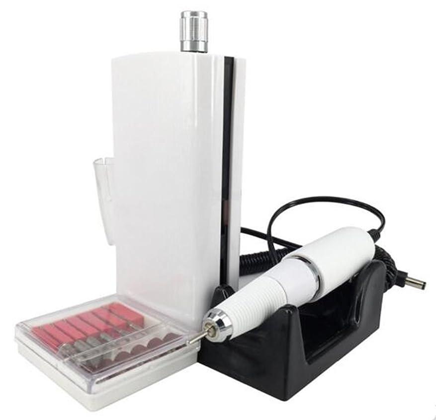 契約癌浅いUZMEIマニキュアとペディキュア用具30000RPM 充電式電気ネイルドリルプロフェッショナルまたは家庭用の6pcドリルビット付き