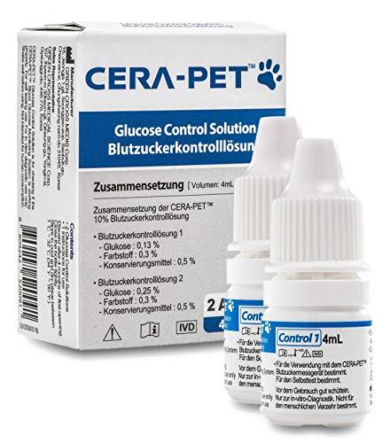 Cera-Pet Kontrolllösung - Blutzuckermessgerät für Hunde und Katzen