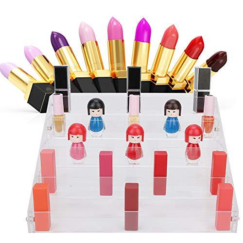 5 displayhouders voor planken, transparant, afneembare cosmeticadoos, nagellak, organizer, voor cosmetica, lippenstift, rek