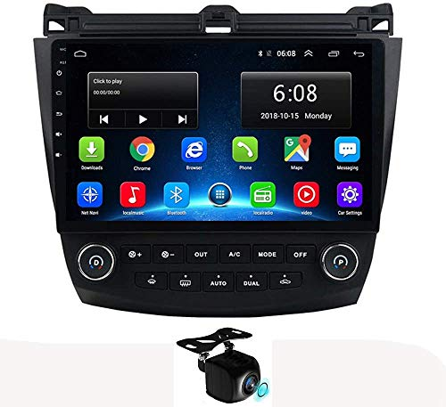 LINGJIE GPS-Navigation Android 8.1 Autoradio für Honda Accord 7 2003-2007 mit NAVI unterstützt GPS WiFi USB Carplay SWC TMPs mit Bluetooth Freisprecheinrichtung,4g 1+16g