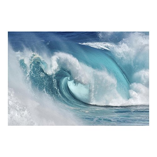 Bilderwelten Fotomural Premium - Fieras Ondas del Mar - Mural apaisado papel pintado fotomurales murales pared papel para pared foto 3D mural pared barato decorativo, Tamaño: 190cm x 288cm