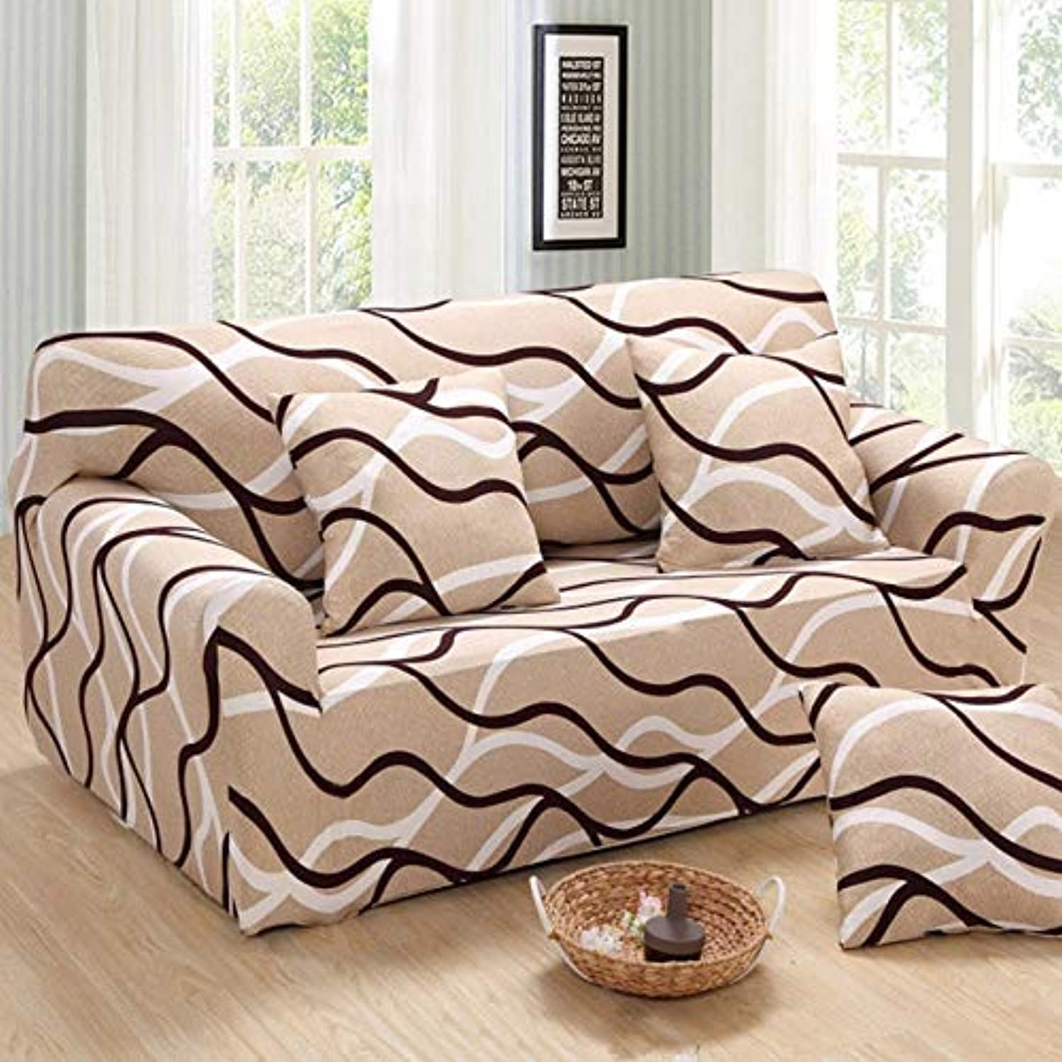 Universal Size color Sofa Cover Tight Wrap Couch Covers Printed Stretch Furniture Flexible slipcovers Sofa Towel sectional Home   5845, 2 seat 140-185cm