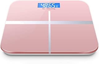 YQSHYP Weight Scale, High Precision Digital Body Weight Bathroom Scales Weighing Scale with Step-On Technology,Max Weight Capacity of 180kg