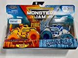 Monster Jam 2020 Fire and Ice 2-Pack 1:64, Husky and Monster Mutt