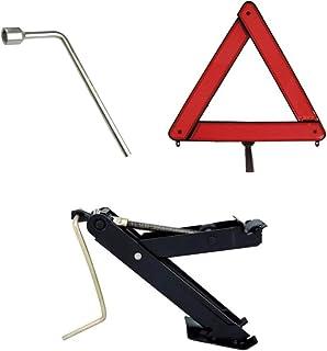 Kit Estepe Para Carro/Macaco Joelho + Chave De Roda 19mm + Triângulo Universal