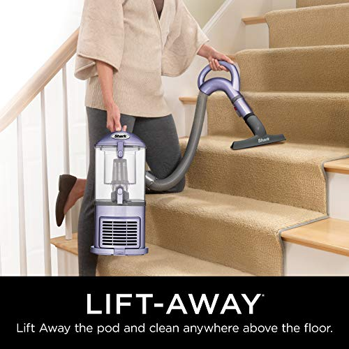 Shark NV352 Navigator Lift Away Upright Vacuum with Wide Upholstery and Crevice Tools, Lavender