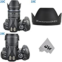 JW LH-J61C Black Bayonet Lens Shade Hood for Olympus 14-42mm M.Zuiko 14-150mm Replace Olympus LH-61C + JW emall Micro Fiber Cleaning Cloth