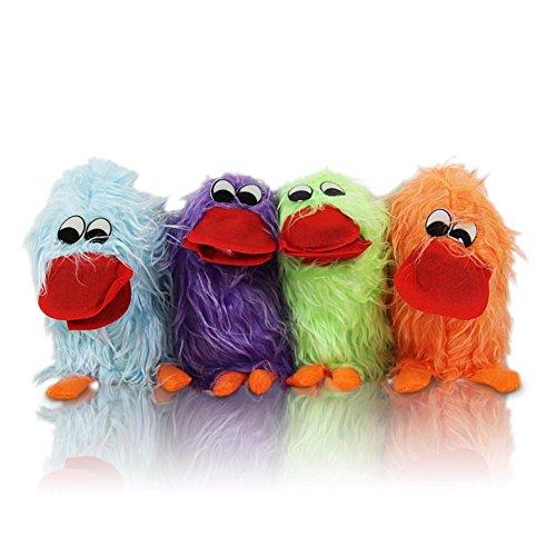 6 x HC-Handel 910706 Handpuppe Crazy Bird Zunge 20 cm Vogel verschiedene Farben