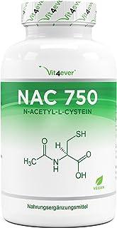 NAC - N-acetyl L-cystein 180 capsules met elk 750 mg - 6 maanden voorraad - laboratoriumgetest (gehalte aan werkzame stoff...
