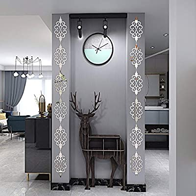Acrylic Mirror Wall Stickers,Mirror Wall Decals,DIY Hollow Mirror Wall Decor,Self Adhesive Mirrors Stickers for Home Decoration(Silver,10 Pcs)