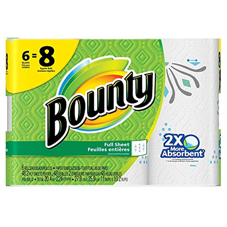 Bounty Paper Towels, Print, 6 Big Rolls = 8 Regular Rolls, Prime Pantry