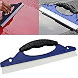 LinaLife 12' Waterblade Silicone Drying Blade Car Window Wiper Wash Clean Water Dry Cleaner Helpful Good Grips Auto Water Blade, Water Wiper Car Dryer, Shower Squeegee, for Automotive Home Clean