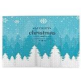 DKISEE Jigsaw Puzzles, Árbol de Navidad Bosque con copos de nieve vacaciones 300 piezas de madera Jigsaw rompecabezas, regalo creativo, clásico juego educativo juguetes para adultos y familias