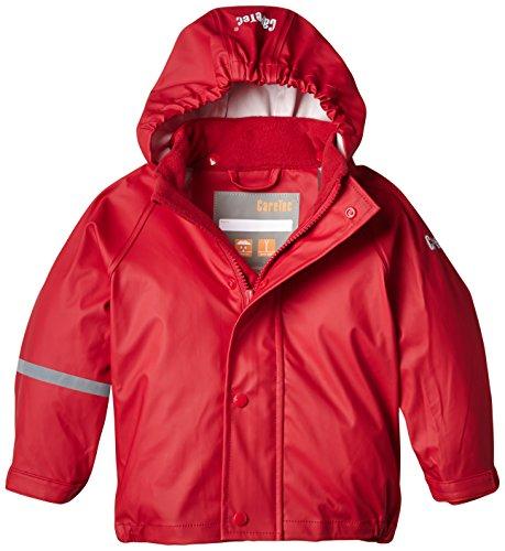 CareTec Kinder wasserdichte Regenjacke,Rot (Red 402), 98 (3 Jahre)