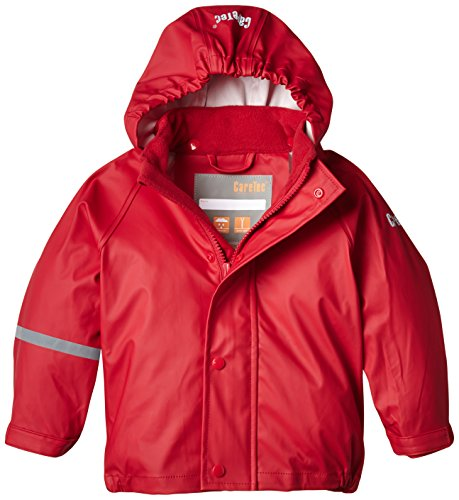 CareTec Kinder wasserdichte Regenjacke, Rot (Red 402), 12 Monate/80 cm