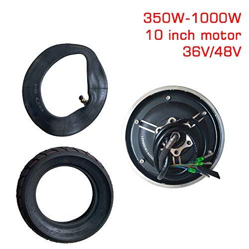 GZFTM Elektromotor Vakuum Reifen Umbausatz Elektroroller Motorteile Geändert DIY Rad Brushless Motor 10 Zoll 36V48V350W-1000W (500W 36V with tire)