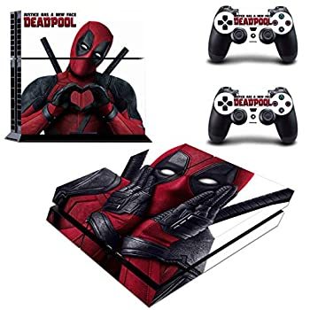 Decal Moments Regular PS4 Console Set Vinyl Skin Decal Stickers Protective for PS4 Playstaion 2 Controllers Deadpool
