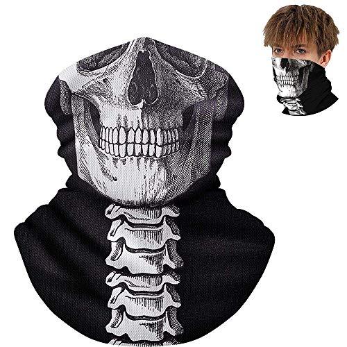 Halloween Schädel Maske, Nahtlos Schädel Gesicht Schlauch Maske,Outdoor Sport Kopftuch für Motorrad, Fahrrad, Wandern, Ski