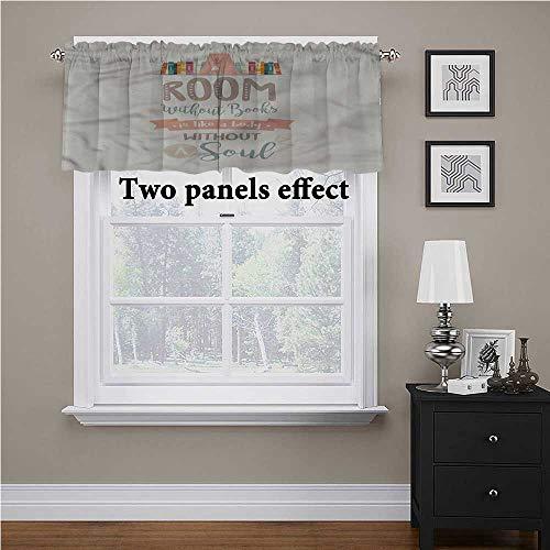 Adorise Cenefa para cortina, estante para libros y una cita de protección de privacidad, cenefas de cocina, perfecto para tu habitación de juguetes, 150 x 45 cm
