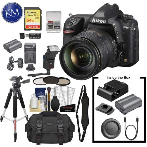 Buy Nikon D780 DSLR Camera with 24-120mm Lens with 64GB Extreme SD Card, 6Pc Cleaning Kit, Large Tri...