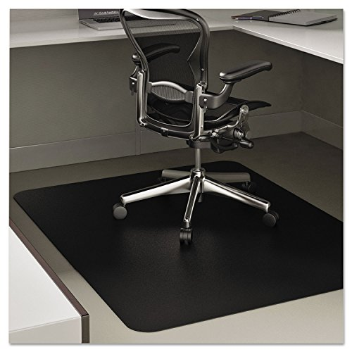 deflecto CM21242BLK EconoMat Anytime Use Chair Mat for Hard Floor 45 x 53 Black Photo #9
