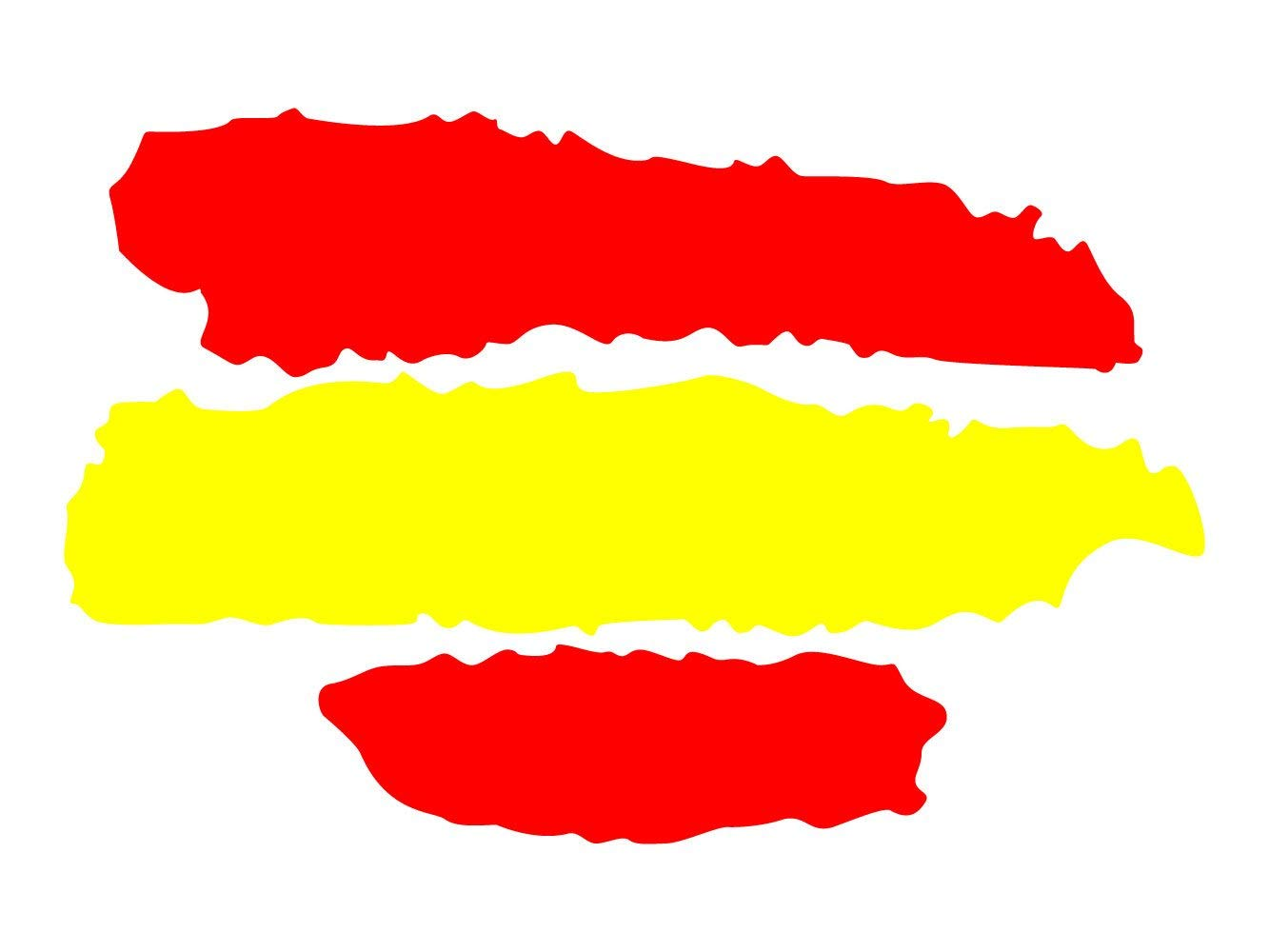 Oedim Pack 5 Pegatinas Bandera España | 7 x 5 cm | Adhesivo de Fácil Colocación | Pegatina para Coche Económica y Resistente: Amazon.es: Hogar