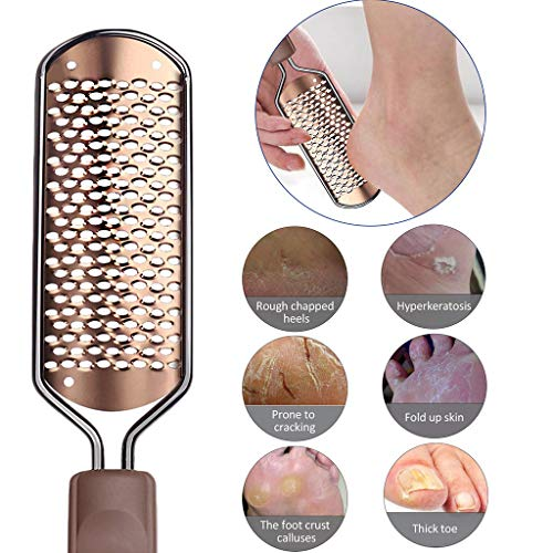 Pedicure Device, RINKOUa Best Foot Care Pedicure Metal Surface Tool To Remove Hard Skin, Can Be Used On Both Wet And Dry Feet, Surgical Grade Stainless Steel File