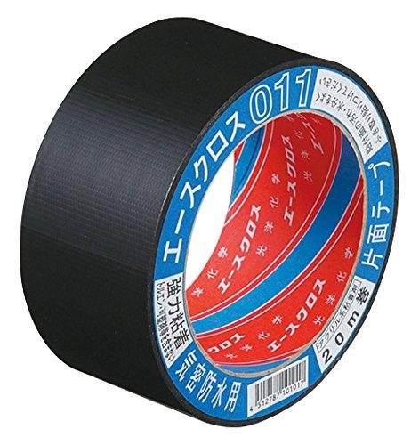 光洋化学 気密防水テープ エースクロス アクリル系強力粘着 片面テープ 011 黒 75mm×20M