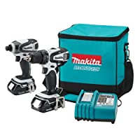 Makita LCT200W 18-Volt Compact Lithium-Ion Cordless 2-Piece Combo Kit from Makita