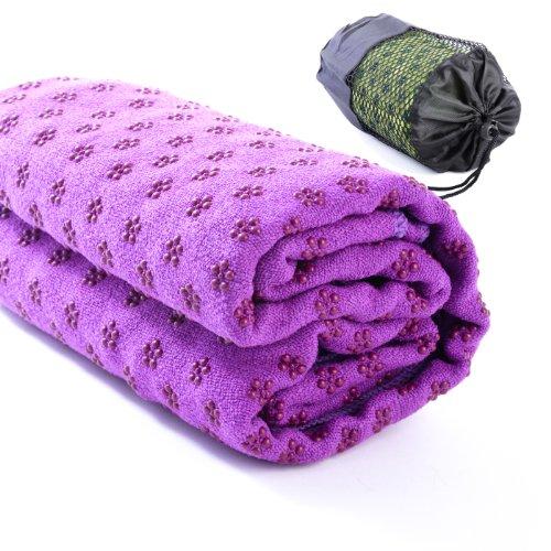 Kamay's Non-Slip Yoga Towel Mat With Bag Quick Dry Microfiber Extra Long 63...