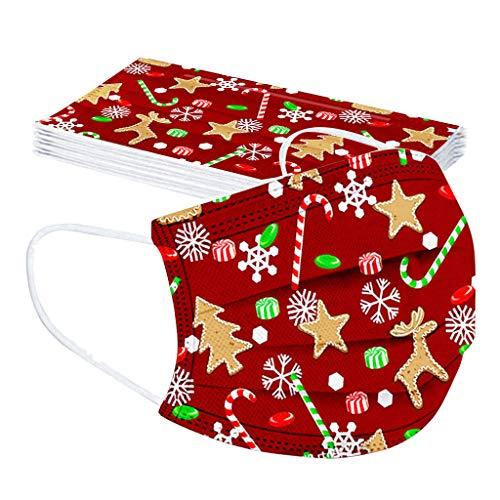 10 Piezas Niños Protección Navidad, 𝐌𝐚𝐬𝐜𝐚𝐫𝐢𝐥𝐥𝐚𝐬, 3 Capas con Elástico para Los...