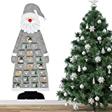 Calendario dell'avvento in Feltro,Calendario dell'Avvento in Feltro Natale,Calendario da appendere a parete di Natale,Calendario Dell'Avvento Babbo Natale,Conto alla Rovescia Natale (grigio)