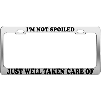 I Don/'t Need Internet My Husband Knows Eeverything Metal License plate frame