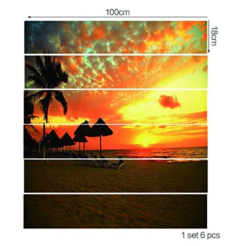 Le Scale Si Attaccano Al Crepuscolo Sul Mare Protezione Ambientale In Pvc Decorazione Domestica Creativa -100Cmx18Cmx13Pieces
