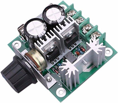 DC-Motor Speed Controller 10V-40V 10A PWM-Controller DC 12V 24V 36V Variable-V-Regler Lüfter Dimmer Regler stufenlos Motor Speed Control Regler mit Verpolschutz