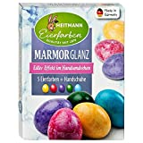 Heitmann Eierfarben Marmor-Glanz - 5 flüssige Eierfarben - Marmorier-Effekte -