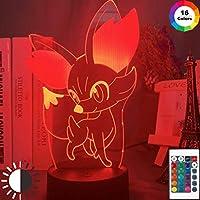 ゲームポケモンゴー3Dナイトライト(子供用寝室の装飾)カラフルなLEDライトポケットモンスター3Dナイトランプ