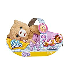 Wrap Me in my blanket and soothe Me to sleep Cubbles the Cozy Dozy is so soft and cuddly, she makes the best bedtime buddy Use my pacifier to send me to sleep Tickle me and I'll close my eyes and start to giggle Pet my head! I react and respond to yo...