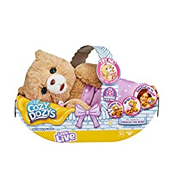 Over 25 sounds and reactions! Interactive toy pacifier to soothe Cubbles. Tickle me and I'll close my eyes and start to giggle! Wrap me in my blanket and soothe me to sleep! Includes demonstration batteries.