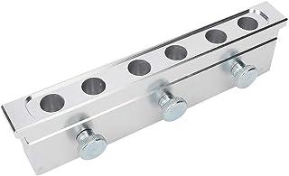 12.1mm 6-gat Dubbele Doeleinden Aluminiumlegering Diy Lipstick Schimmel Cosmetische Lip Balsem Dispenser (space Silver)