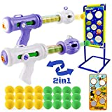 Shooting Game Toy for Boys Ages 5 6 7 8 9 10 + Year Old, Ideal Gift for Kids Birthday or Christmas, Foam Ball Popper Air Guns with Shooting Target Dinosaur & Space, Compatible with Nerf Toy Guns
