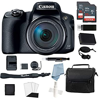 Canon Powershot SX70 HS 4K Video Digital Camera Bundle by WhoIsCamera