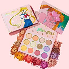 Sailor Moon x ColourPop Pretty Guardian Eyeshadow Palette Shining Moon: Pale Peach With Hot Pink Pinpoints Twilight Flash: Vibrant Tangerine Silver Crystal: Soft Pink With A Gold Flip Moon Castle: Soft Coral