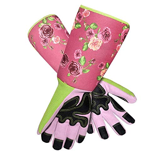 Long Sleeve Gardening Gloves Pruning Thornproof Garden Gloves with Extra Long Forearm Protection for...