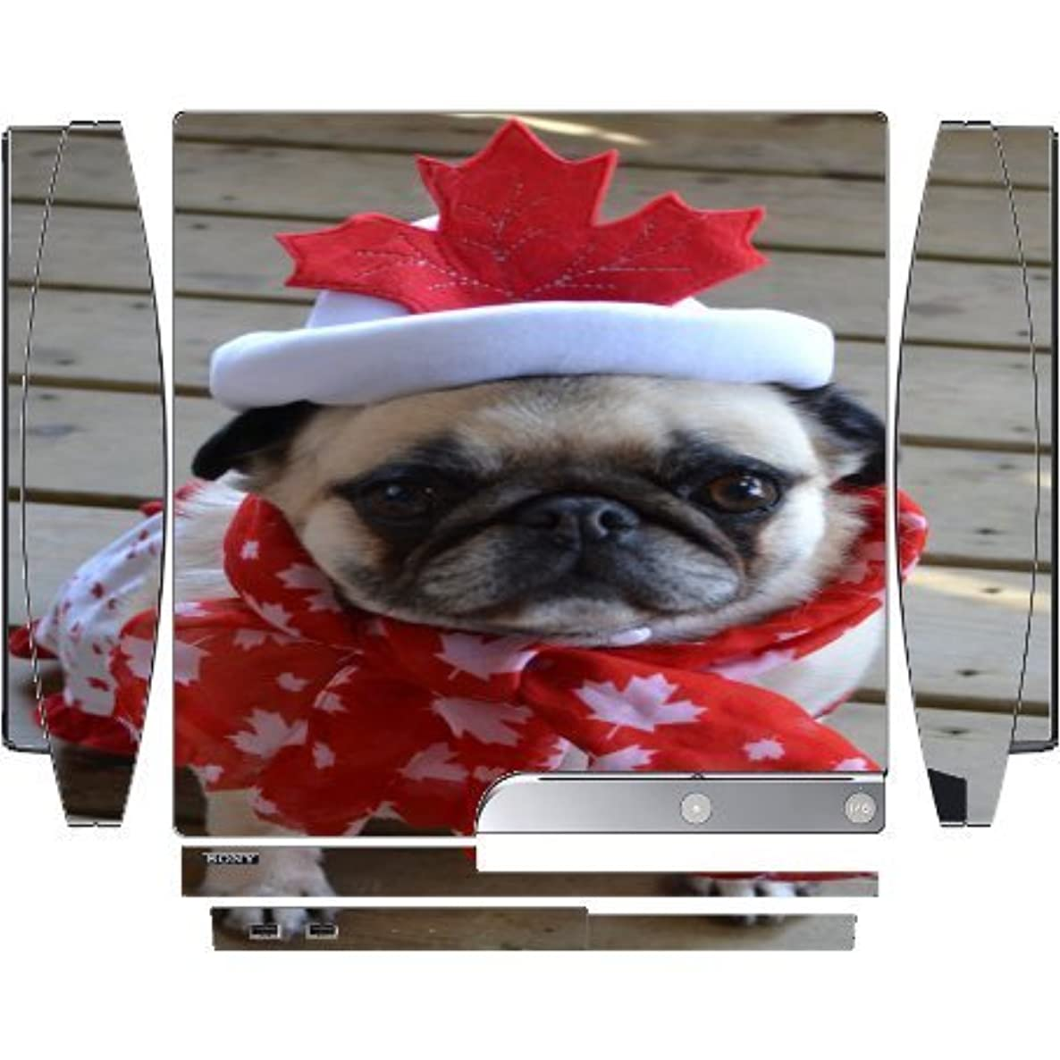 Canadian Pug Playstation 3 & PS3 Slim Vinyl Decal Sticker Skin by Compass Litho