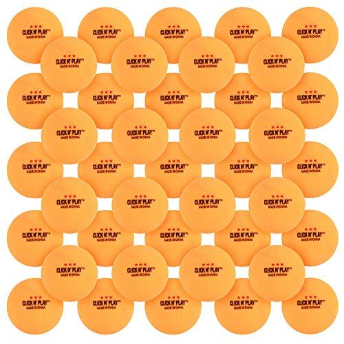 Discover Bargain Click N' Play Ping Pong Balls 3-Star Premium Advanced Training Tournament Grade Tab...