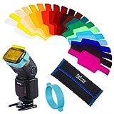 Selens SE-CG20 20 Stück Speedlite Farbfolien Blitz Gele für Kamera