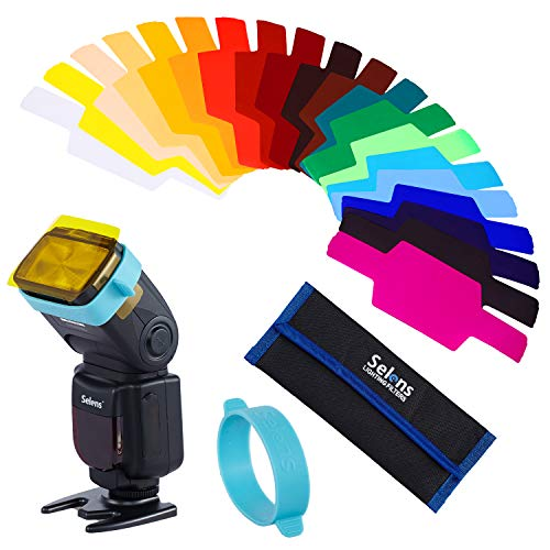 Selens Universal Flash Gels Lighting Filter SE-CG20-20 pcs Combination Kits for Canon Nikon Sony Godox Yongnuo Camera Flash Light