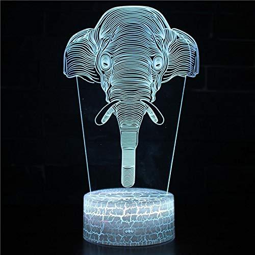 3D USB Schreibtisch Tisch Tamp Weihnachtsdekoration Kindergeschenk Kinderzimmer LED Acryl Nachtlicht Cartoon Pferd Einhorn Big Wild Animal Cute Elephant